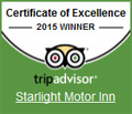 Starlight Motor Inn - TripAdvisor Certificate of Excellence 2015 Winner